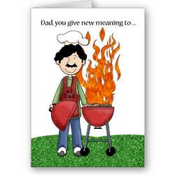 Father's Day Grilling and Chilling Greeting Card