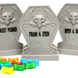 Rest in Pieces Candy Bone Tombstones