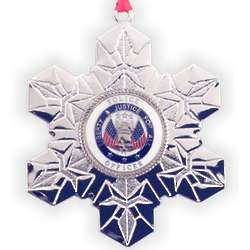 Personalized Snowflake Policeman Christmas Ornament