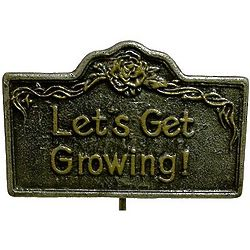 Let's Get Growing Aluminum Garden Marker
