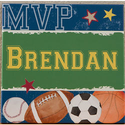 Ready Set Score Personalized Canvas Art