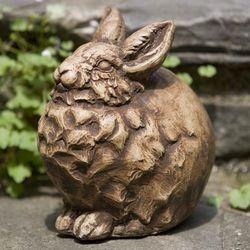 Snowball Bunny Garden Sculpture