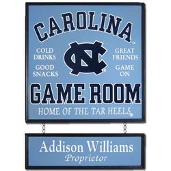 UNC Personalized Game Room Sign