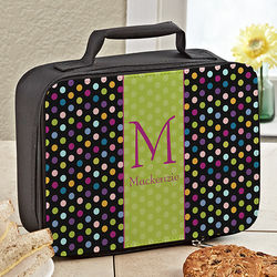 Polka Dots for Her Personalized Lunch Tote