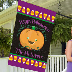 Personalized Happy Halloween House Flag