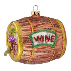 Personalized Wine Barrel Christmas Ornament