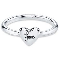 Sentiments Love Heart Ring in Sterling Silver