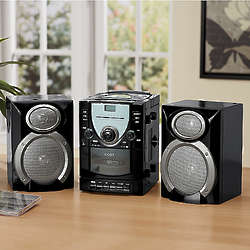 CD Stereo System with Detachable Speakers