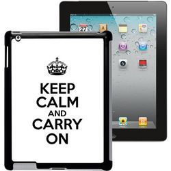 Keep Calm and Carry On Personalized iPad Case