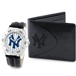 NY Yankees Wallet & Watch Set
