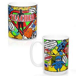 Superhero Male Teacher Mug
