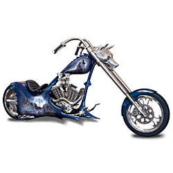 Wolf Art Replica Chopper Figurine: Night Stalker