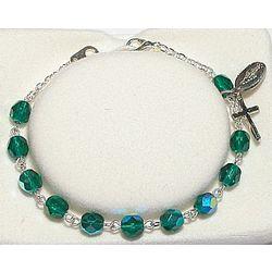 Youth May Birthstone Rosary Bracelet