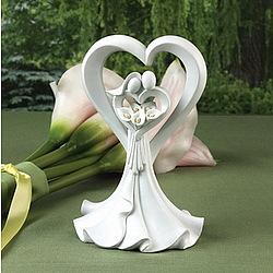 Love's Embrace Calla Lily Cake Topper