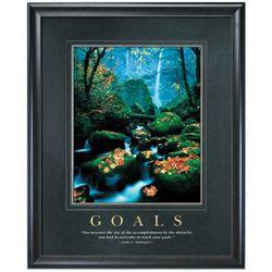 Goals Motivational Poster Matted and Framed
