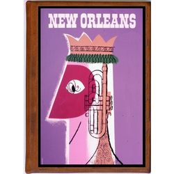 New Orleans 10 Vintage Travel Art Handmade Leather Photo Album