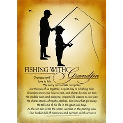 Fishing with Grandpa Plaque