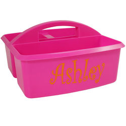 Personalized Small Hot Pink Multi-Purpose Utility Caddy