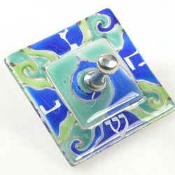 Fused Glass Hanukkah Dreidel