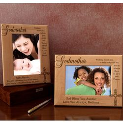 Personalized Godparent Wooden Picture Frame