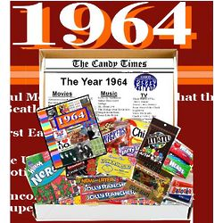 Retro 1964 Candy Gift Box with 1964 Highlights