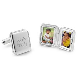 Engraved Photo Cuff Links