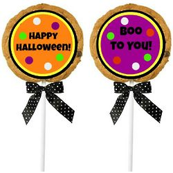 Personalized Halloween Cookie Pops