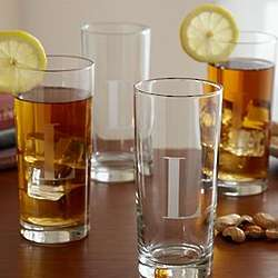 Personalized Tall Drinking Glasses