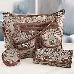 Jacquard Handbag Set