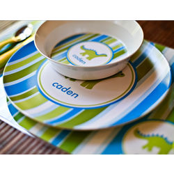 Kid's Customized Melamine Plate and Bowl Set