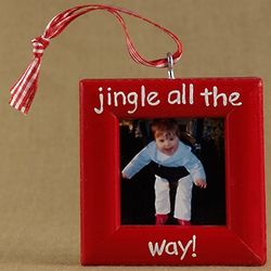 Jingle Bells Picture Frame Christmas Ornament
