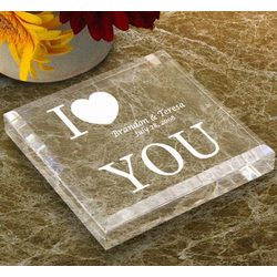 Personalized I Love You Keepsake & Paperweight