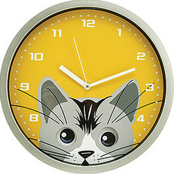 Cat Face Clock With Moving Eyes Findgift Com