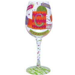 """C"" Wine Glass"