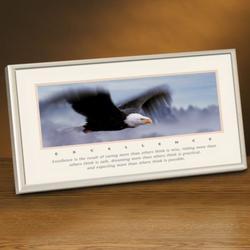 Excellence Eagle Lithograph Framed Desktop Print