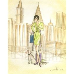Alice and Her Dog Fine Art Print
