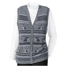 Jacquard Sweater Vest