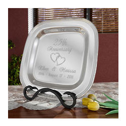 Personalized Anniversary Silver Plate