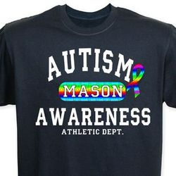 Autism Awareness Athletic Dept. Personalized T-Shirt