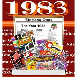 Retro 1983 Candy Gift Box with 1983 Highlights