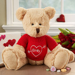 Personalized My Valentine Teddy Bear