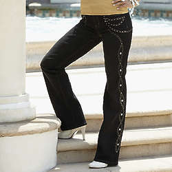 Diane Gilman Chain-Link Jeans