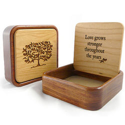 Love Grows Stronger Wooden Keepsake Box
