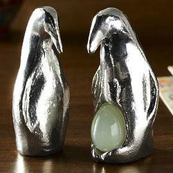 Wishnest Pewter Emperor Penguin Figurines