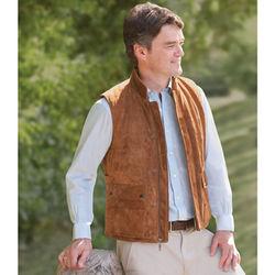 Gentlemen's Washable Suede Vest