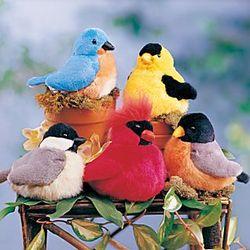 Singing Plush Songbirds