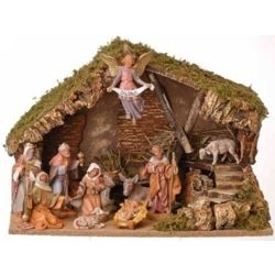 11 Pc Fontanini Nativity Set with Stable