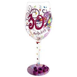 Happy 30ish Birthday Wine Glass