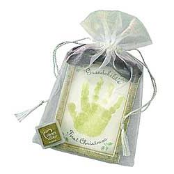 First Christmas Handprint Ornament Kit for Grandchild