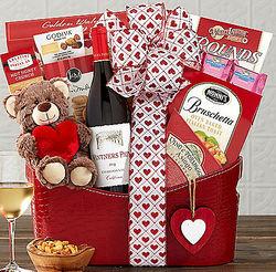 Vintners Path Valentine Chardonnay Gift Basket